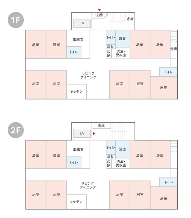 はなまるホーム三郷中央のフロア見取り図