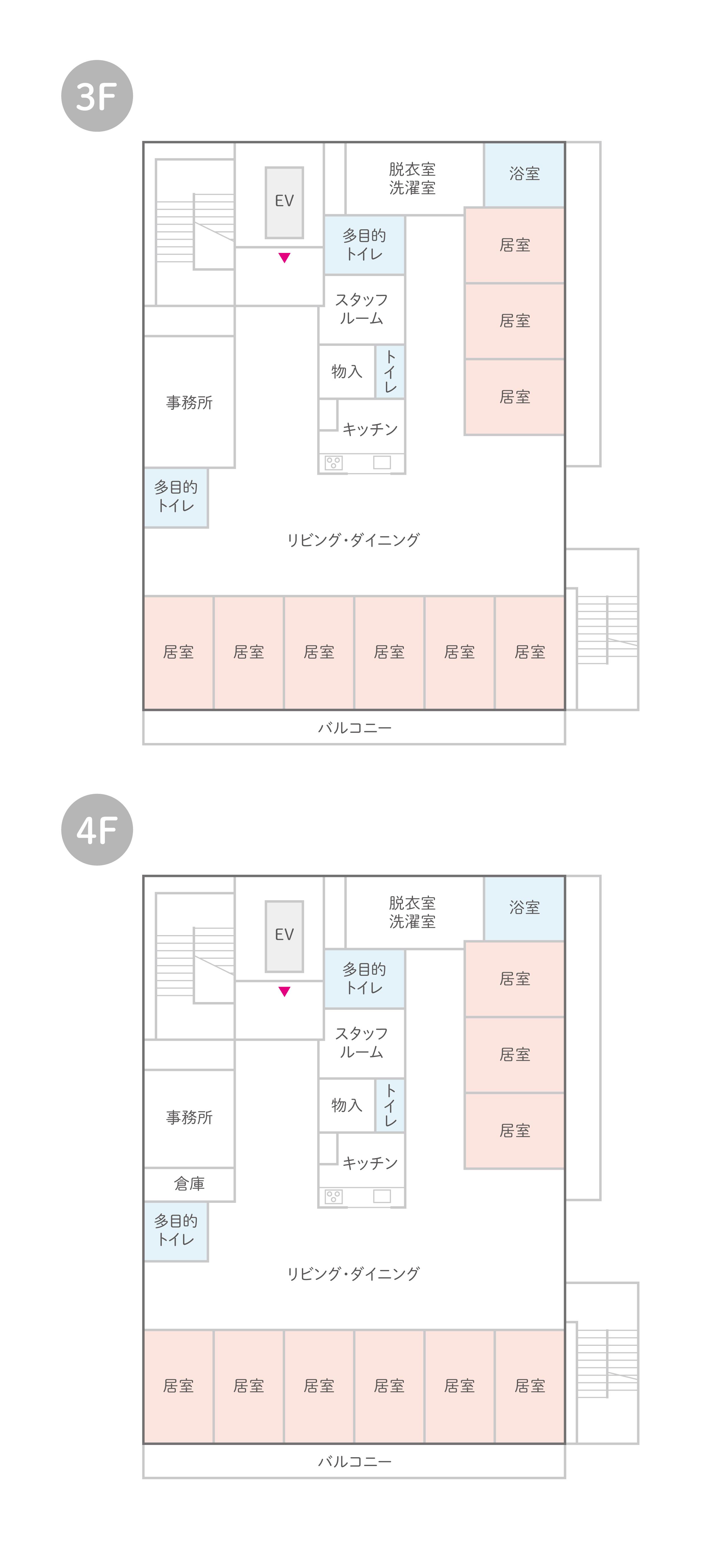 はなまるホーム草加松原のフロア見取り図